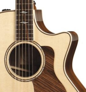 Cutaway on acoustic electric guitar